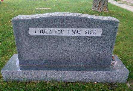 ve l'avevo detto che non stavo bene...